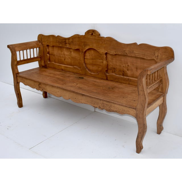 Pine and Oak Bench or Settle For Sale - Image 4 of 13
