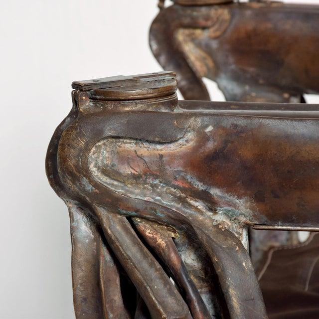Black Forest Brutalist Sculptural Bronze Arm Chair Signed Zavala, Game of Thrones Era For Sale - Image 3 of 11