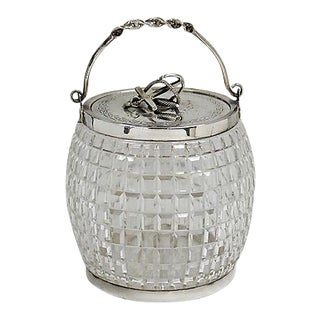 English Cut Crystal Nautical Ice Bucket