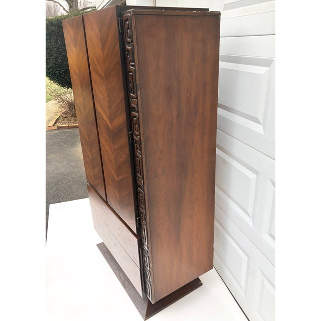 Tall Mid-Century Witco Style Armoire by United Furniture For Sale - Image 11 of 13