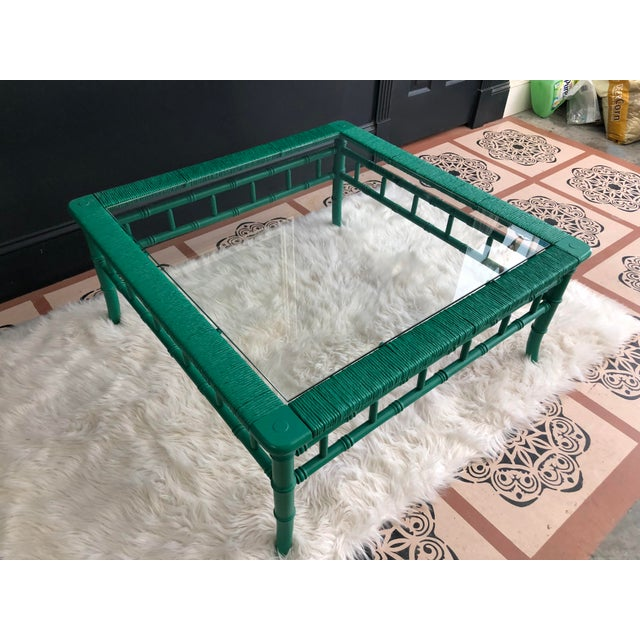 "This stunning emerald green coffee table is another thing on my ""hate to part with"" list. The rich green is amazing. There..."
