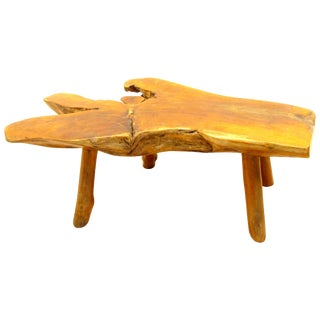 Rustic Log Bench / Table For Sale
