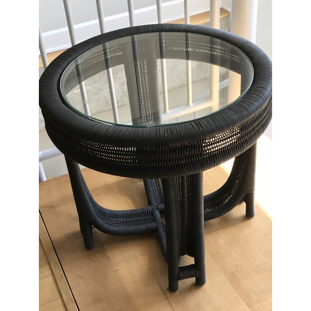 Vintage Wicker Side Table - Image 3 of 5