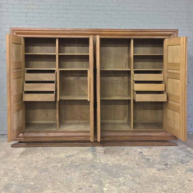Mid 20th Century Mid-Century Modern Grand Oak Bookcase For Sale - Image 5 of 11