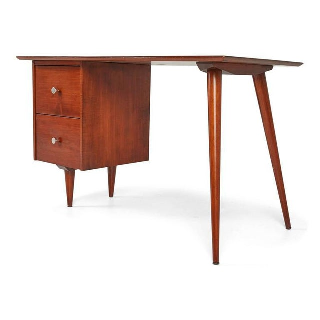 Planner Group 1950s Vintage Paul McCobb Planner Group for Winchedon Mahogany Desk For Sale - Image 4 of 7