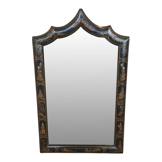 19th C. English Chinoiserie Mirror For Sale