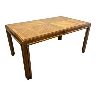 DREXEL HERITAGE Accolade Campaign Style Dining Table For Sale