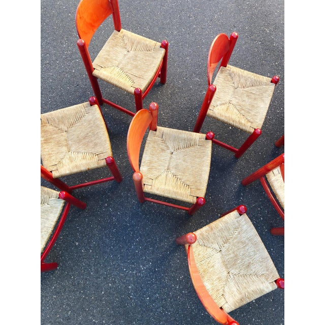 Hank Lowenstein Rush Seat Dining Chairs Made in Italy- Set of 8 For Sale - Image 9 of 13