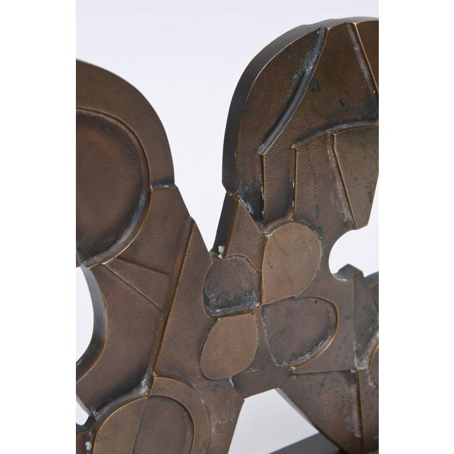 Signed Italian Consagra Abstract, Modernist and Cubist Bronze Sculpture - Image 7 of 10