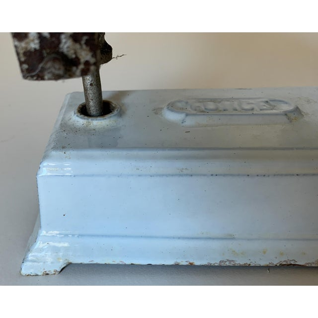 Antique 1920s Iron and Marble Balance Scale For Sale In Boston - Image 6 of 10