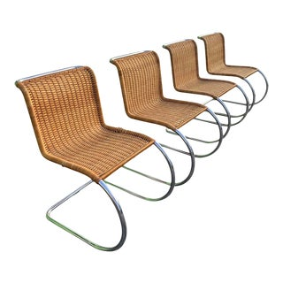 Knoll Ludwig Mies Van Der Rohe Mr Side Chairs - Set of 4 For Sale