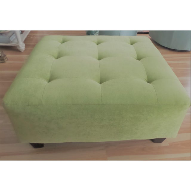 Chelsea House Inc Suede Ottoman/Coffee Table - Huge! For Sale - Image 4 of 4