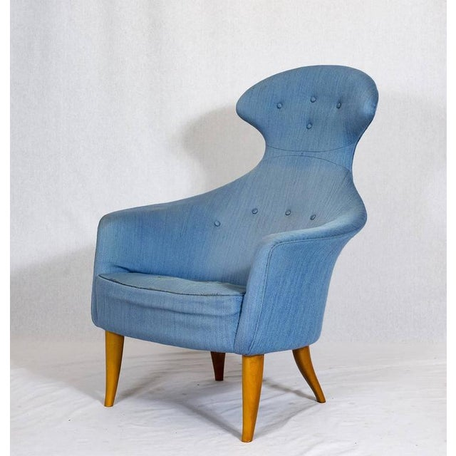 "Contemporary Kerstin Hörlin-Holmquist ""Stora Eva"" Chair For Sale - Image 3 of 9"