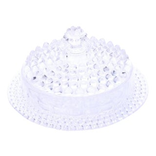 Vintage Hobnail Glass Lidded Dish
