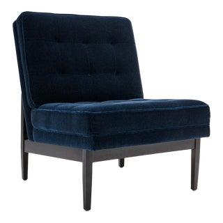 Bespoke V Custom Mohair Lounge Chair For Sale