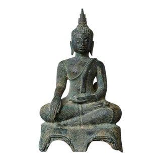 Antique 15th-16th Century Bronze Thai Buddha Statue For Sale
