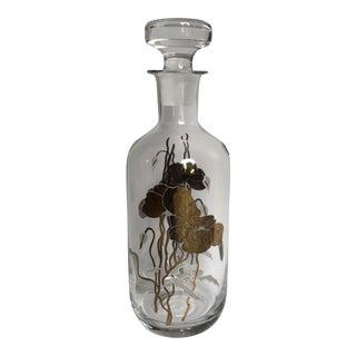 Vintage European Glass Liquor Decanter For Sale