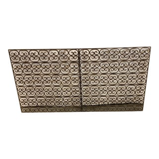 Hand Wrought Decorative Iron Panel For Sale