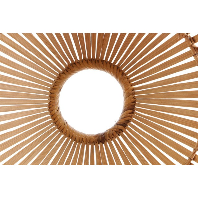 1960s Openwork Wicker Hanging Lampshade For Sale In Los Angeles - Image 6 of 8