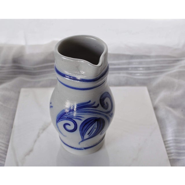 Alsace Pottery French Betschdorf Salt Glazed Pitcher Jug For Sale - Image 4 of 9