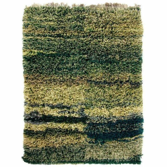 Green Vintage Turkish Shag Tulu - 5'6'' x 8'1'' - Image 2 of 3