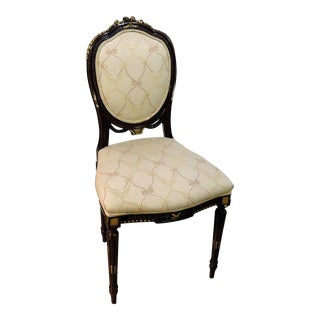 Louis XVI Style Gilt Decorated Side Chair For Sale