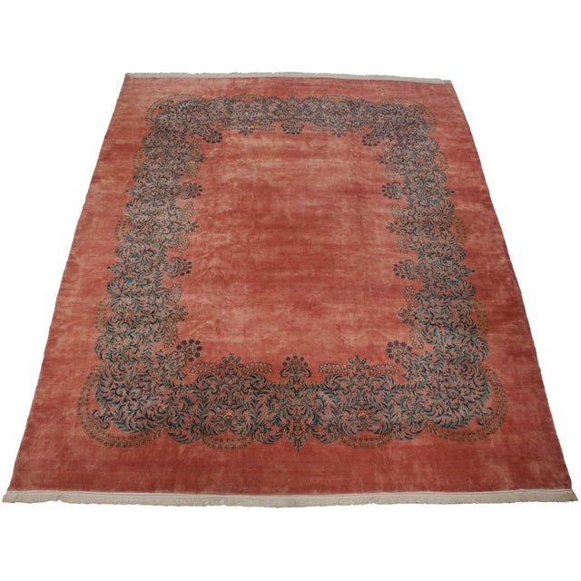 "1930s Vintage Fine Kerman Carpet - 11'3"" X 14'2"" For Sale - Image 5 of 8"