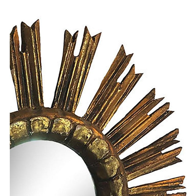 French Vintage French Sunburst Mirror For Sale - Image 3 of 6