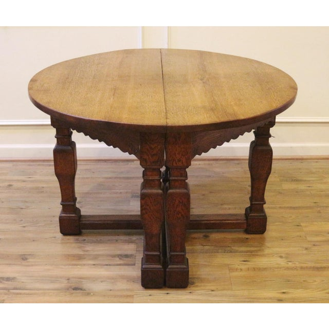 19th Century Country Oak Demi Lune Console Tables - a Pair For Sale - Image 11 of 11