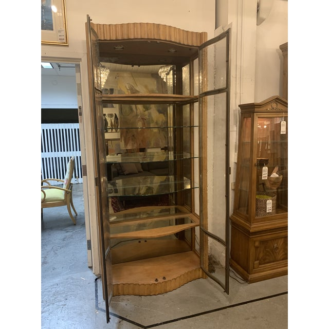Design Plus Gallery presents a Bunching Glass Cabinet by Century Furniture. Oak Frame displays open glass shelving with...