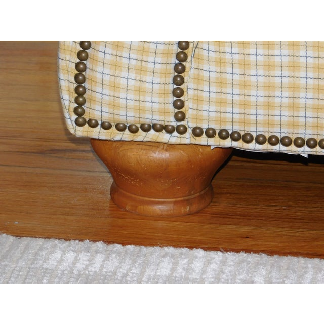 Traditional Yellow Loveseat - Image 4 of 4