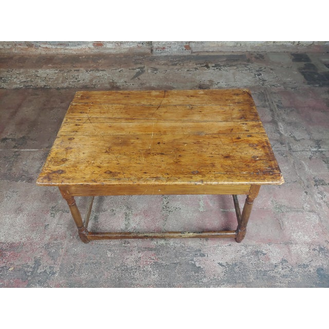 English Traditional 19th Century English Walnut Farm Coffee Table For Sale - Image 3 of 10