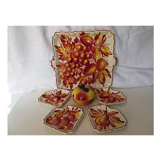 Italian Pottery Serving Set - 6 Pieces - Image 3 of 8