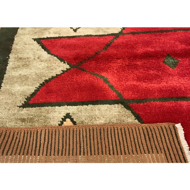 """Contemporary Turkish Nomadic Long Pile Tulu Rug - 4'7"""" X 6'9"""" For Sale - Image 3 of 3"""