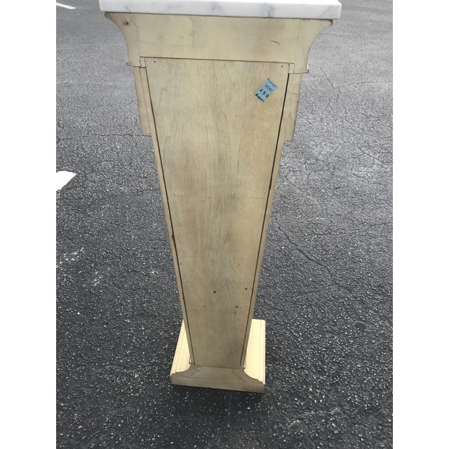 1940s Mid-Century Marble Top Display Pedestal For Sale - Image 5 of 8