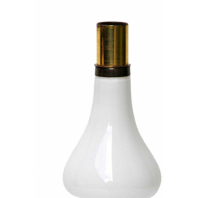 Venini Venini White Lattimo Table Lamp, Circa 1950 For Sale - Image 4 of 5