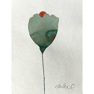 """Sunrise"" Botanical Original Watercolor Painting For Sale"