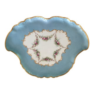 19th Century French Antique Limoges Platter For Sale