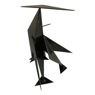 Mid Century Modern Brutalist Abstract Geometric Sculpture For Sale