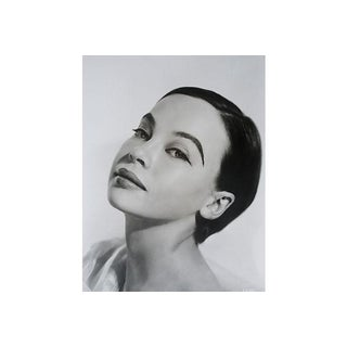 "Original Mid Century C.1950 Leslie Caron Photography by Virgil Apger 16x20"" Hollywood Glamour For Sale"