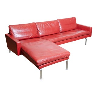 1970s Skipper Sectional Sofa in Red Leather, Denmark For Sale