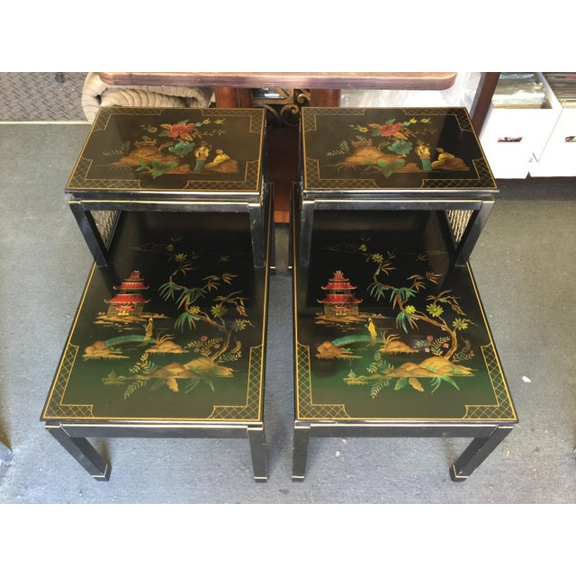 Pair of Katherine Henick Side tables. Circa 1940 to 1950. Very nice condition, just a little wear on the top of one,...