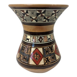 Peruvian Hand Crafted Vase For Sale