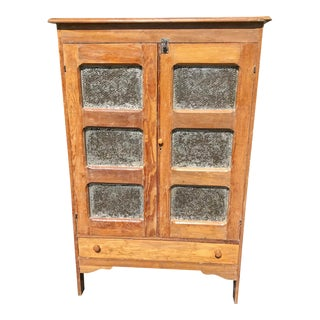 19th Century Antique Southern Pine Pie Safe For Sale