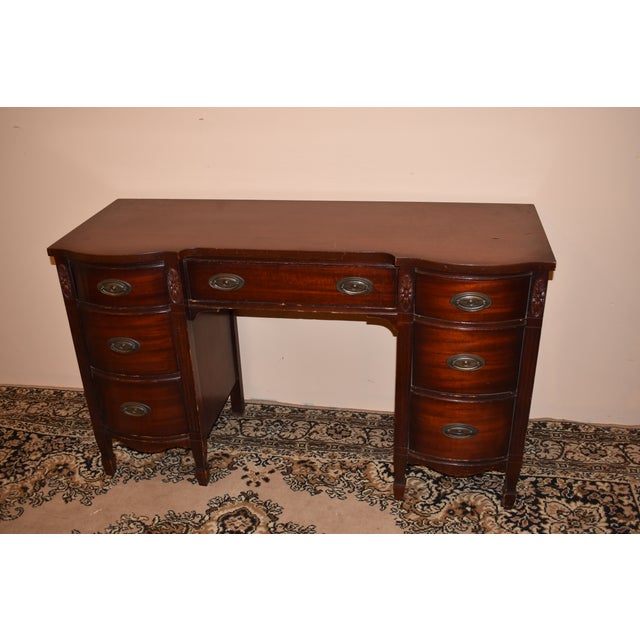 Dixie Furniture Antique Mahogany Desk - Image 3 of 10