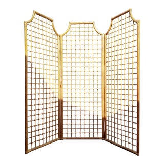 Rattan Triple Panel Screen