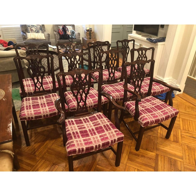 Wood Antique Chippendale Dining Chairs - Set of 10 For Sale - Image 7 of 12