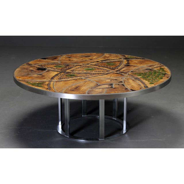 Ceramic Round coffee table by Lilly Just Lichtenberg For Sale - Image 7 of 7