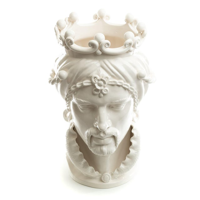 Not Yet Made - Made To Order Sicilian Gigante Head, Schittone Modern Moro For Sale - Image 5 of 10