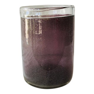 Purple Blown Glass Wine Cooler For Sale
